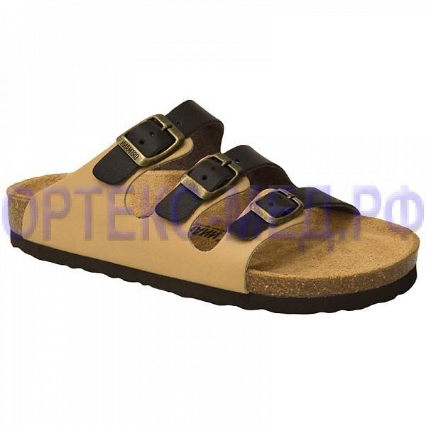 Мужские ортопедические сандалии ORTMANN Marcel 7.04.2 бежевый/коричневый микс